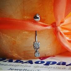 Пирсинг c бриллиантами