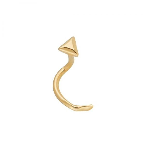 Серьга для пирсинга в нос из желтого золота
