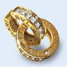 """Серьги """"BVLGARI"""" из желтого золота с бриллиантами"""
