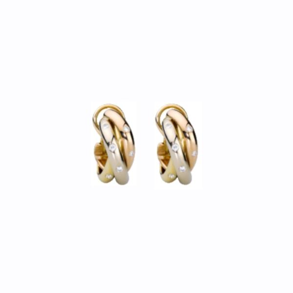"""Серьги """"Cartier"""" из комбинированного золота с бриллиантами"""