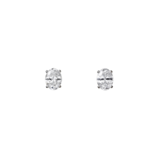 Серьги из белого золота с алмазами