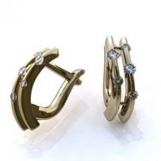 Серьги из белого золота с бриллиантами