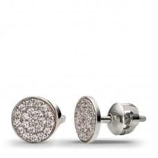 Серьги из белого золота с бриллиантами..