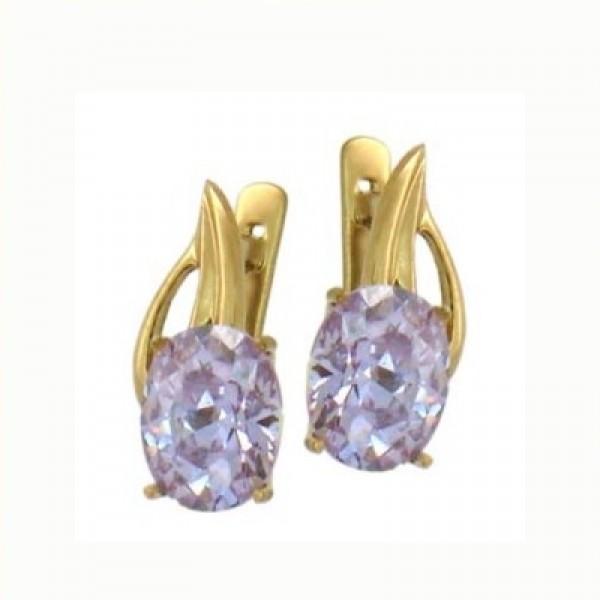 Серьги из желтого золота с алмазами