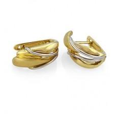 Серьги из комбинированного золота..