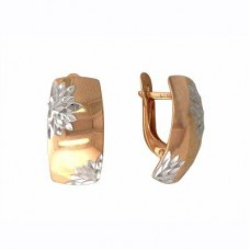 Серьги из комбинированного золота