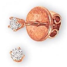 Серьги из красного золота с бриллиантами..