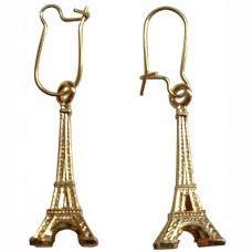 """Серьги """"La tour Eiffel"""" из красного золота"""